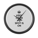 Keep Calm Spot is On Large Wall Clock