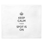 Keep Calm Spot is On King Duvet