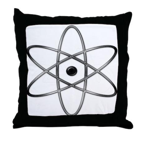 """Orbit, Black & Silver"" Throw Pillow"