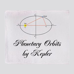 Planetary Orbits by Kepler Throw Blanket