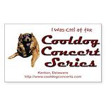 Cooldog Rectangle Sticker