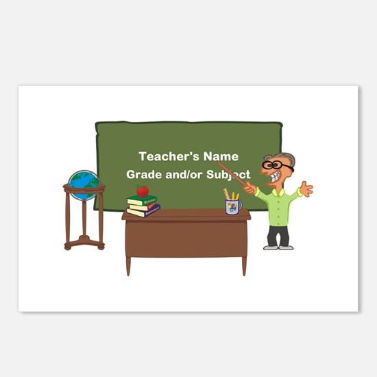 Cartoon Teacher Appreciation Male Postcards (Packa