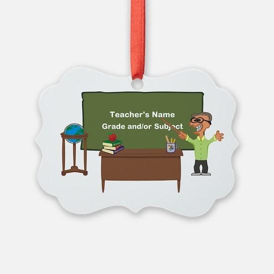 Cartoon Teacher Appreciation Male Ornament