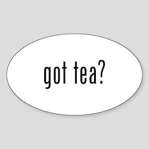 Got tea? Sticker (Oval)