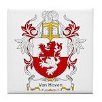 Van Hoven Coat of Arms Tile Coaster