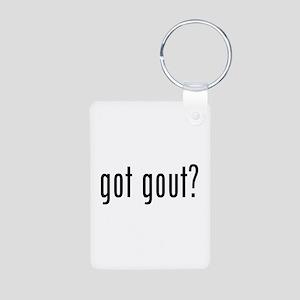 Got gout? Aluminum Photo Keychain