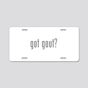 Got gout? Aluminum License Plate