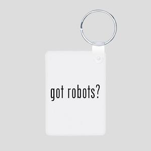 Got robots? Aluminum Photo Keychain