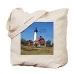 Au Sable Point Lighthouse Tote Bag