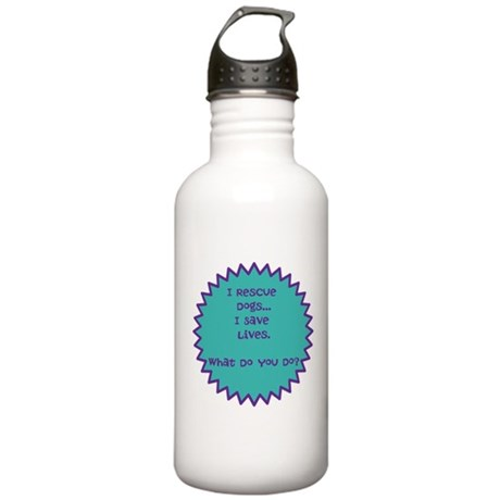 I rescue dogs Stainless Water Bottle 1.0L