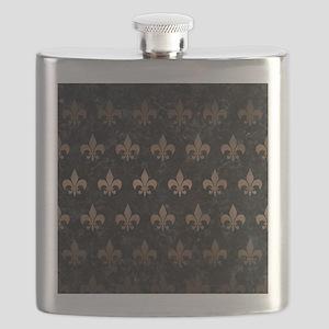 ROYAL1 BLACK MARBLE & BRONZE METAL (R) Flask