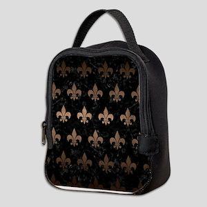 ROYAL1 BLACK MARBLE & BRONZE ME Neoprene Lunch Bag