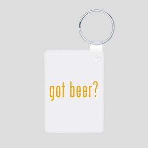 Got beer? Aluminum Photo Keychain