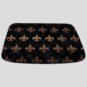 ROYAL1 BLACK MARBLE & BRONZE METAL (R) Bathmat