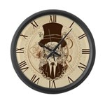 Steampunk Gentleman Large Wall Clock