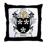 Hoeven Coat of Arms Throw Pillow