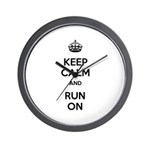 Keep Calm and Run On Wall Clock