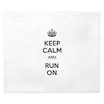 Keep Calm and Run On King Duvet