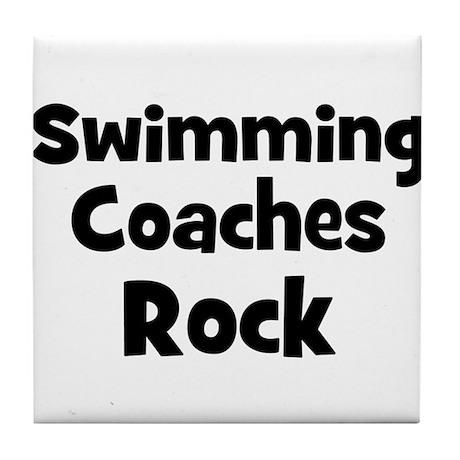 SWIMMING COACHES Rock Tile Coaster