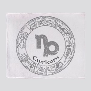 Capricorn Zodiac sign Throw Blanket