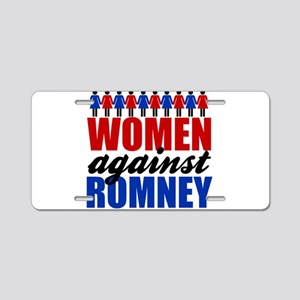Women Against Romney Aluminum License Plate