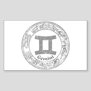 Gemini Zodiac sign Sticker (Rectangle)