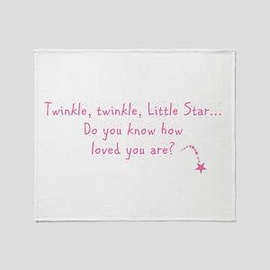 Twinkle Twinkle Little Star P Throw Blanket