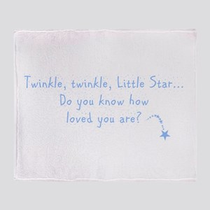 Twinkle Twinkle Little Star B Throw Blanket