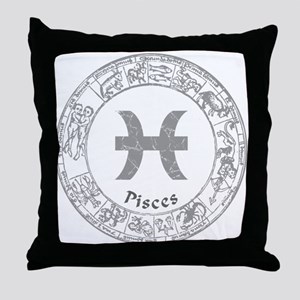 Pisces Zodiac sign Throw Pillow