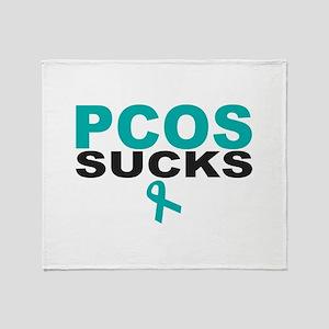 PCOS SUCKS Throw Blanket