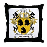 Van Hemert Coat of Arms Throw Pillow