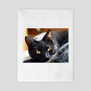 Sleek Black Cat Twin Duvet