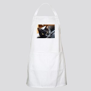 Sleek Black Cat Apron