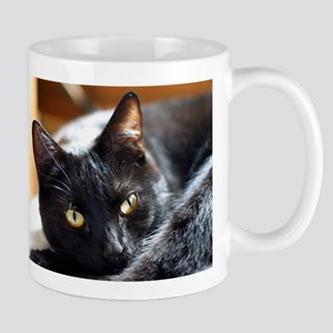 Sleek Black Cat Mug