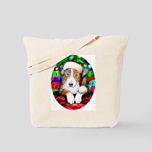 Aussie Santa Pup Tote Bag