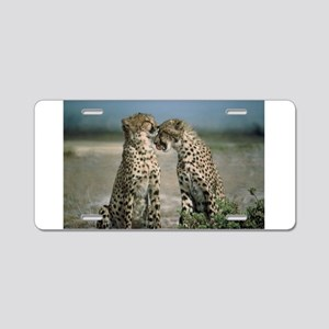 Cheetah Love Aluminum License Plate