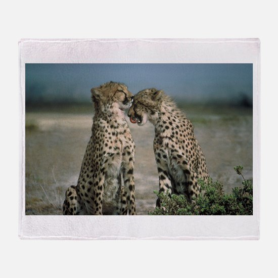 Cheetah Love Throw Blanket