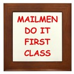 mailman Framed Tile