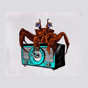 Crab Radio Throw Blanket