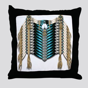 Native American Breastplate 7 Throw Pillow