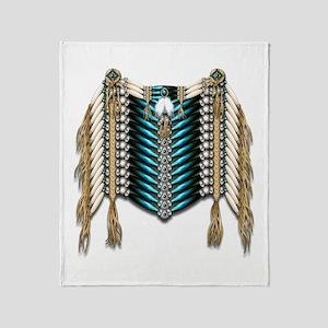 Native American Breastplate 7 Throw Blanket