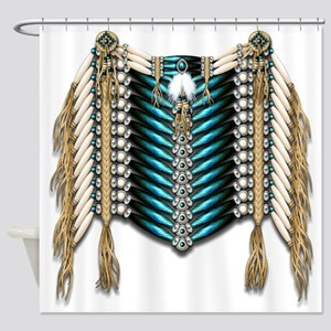 Native American Breastplate 7 Shower Curtain