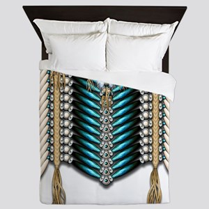 Native American Breastplate 7 Queen Duvet