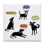 Woof Arf Bark Tile Coaster
