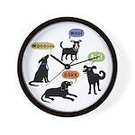 Woof Arf Bark Wall Clock