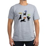Woof Arf Bark Men's Fitted T-Shirt (dark)