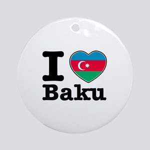 I love Baku Ornament (Round)