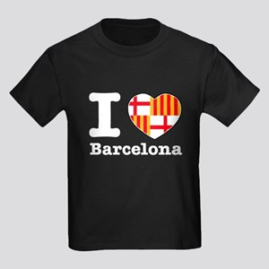 I love Barcelona Kids Dark T-Shirt