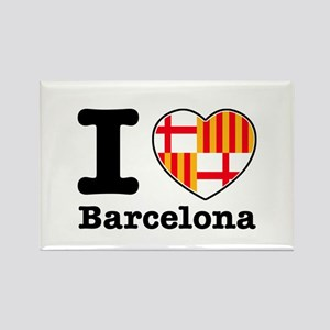 I love Barcelona Rectangle Magnet