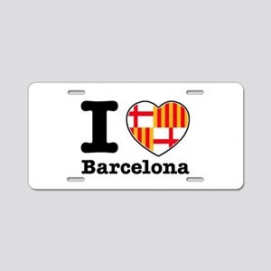 I love Barcelona Aluminum License Plate